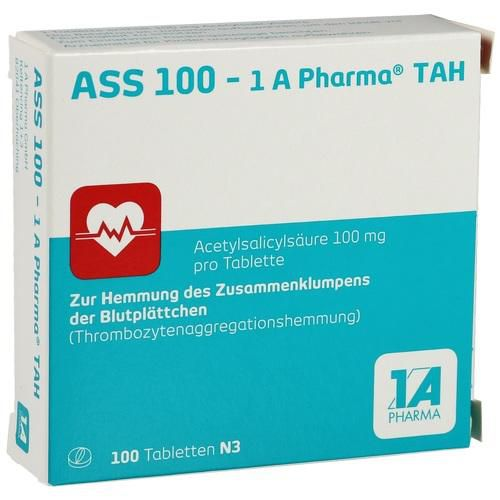 ass 100 1a pharma tah tabletten 100 st bei apo in. Black Bedroom Furniture Sets. Home Design Ideas